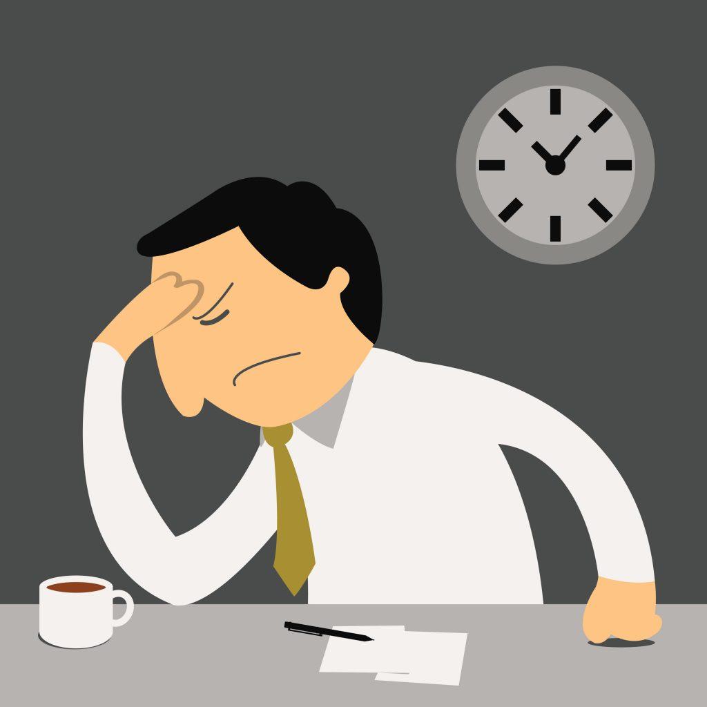 Stressful business man