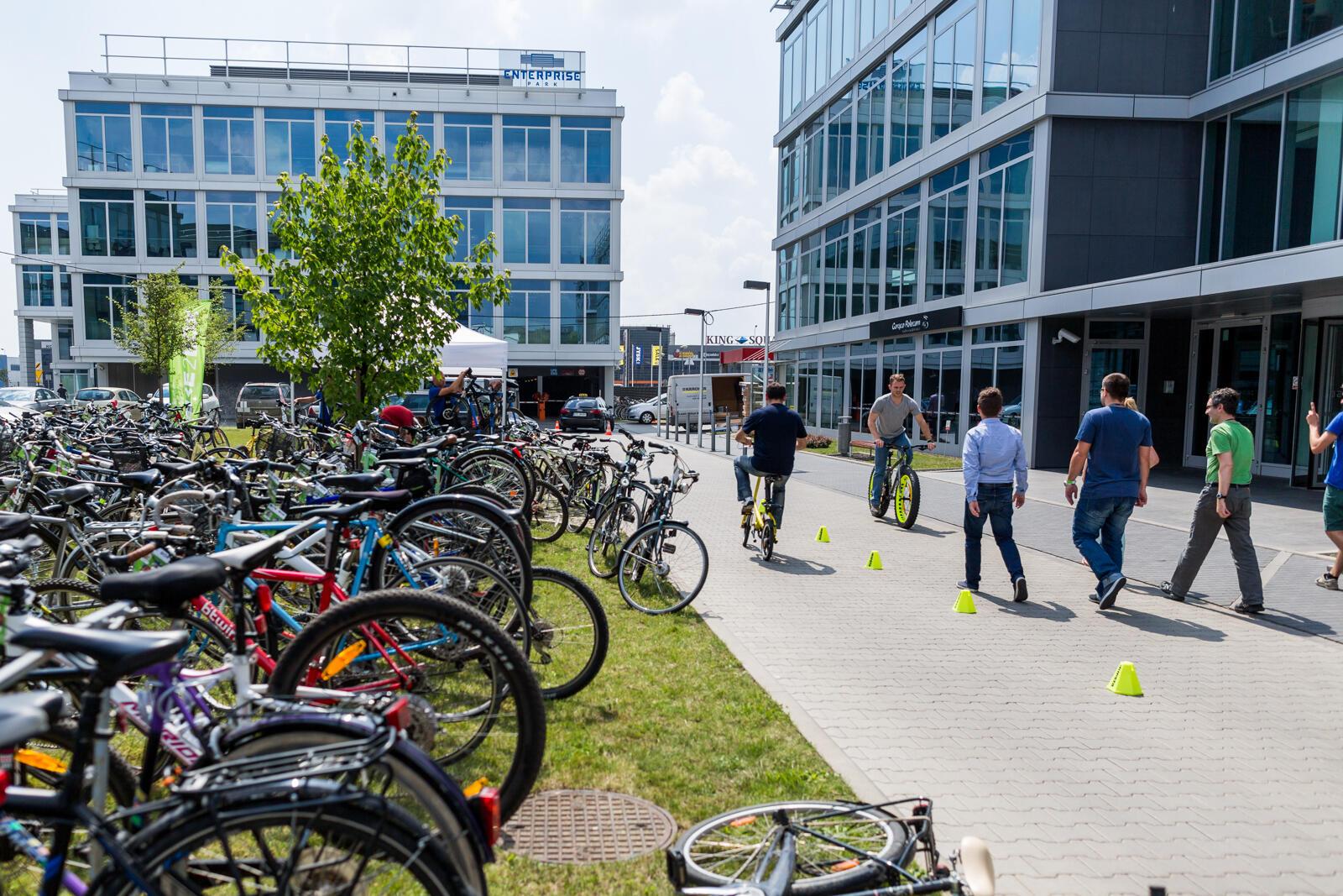 BikeDay – impreza dla pracowników – rowerzystów w Enterprise Park w Krakowie