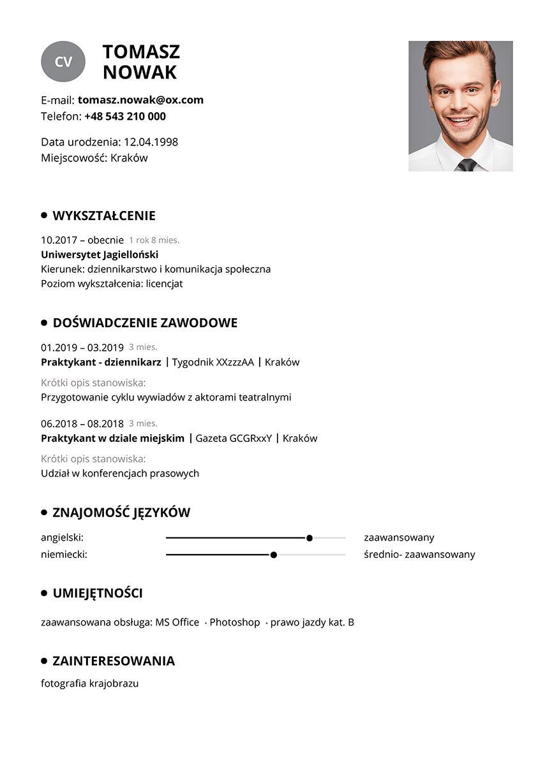 CV praktyki
