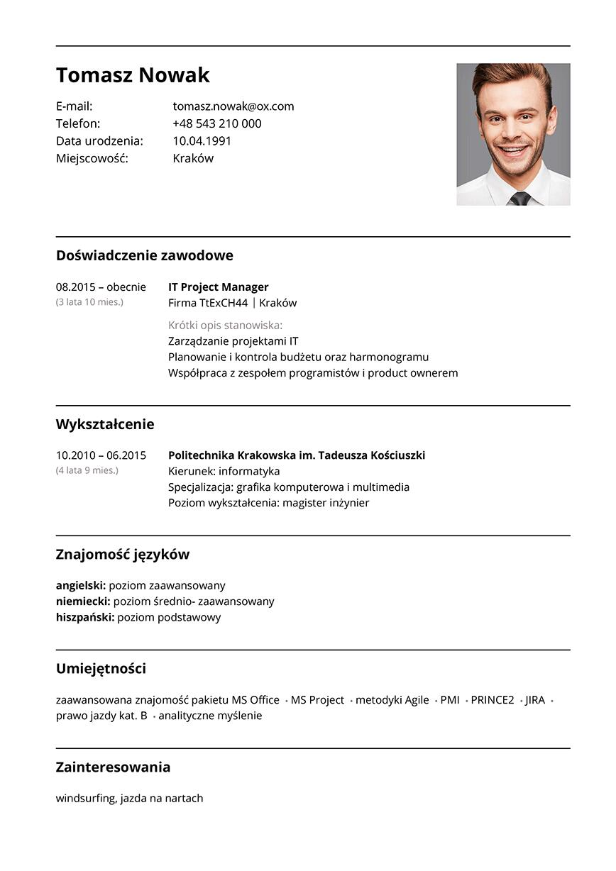 CV project manager