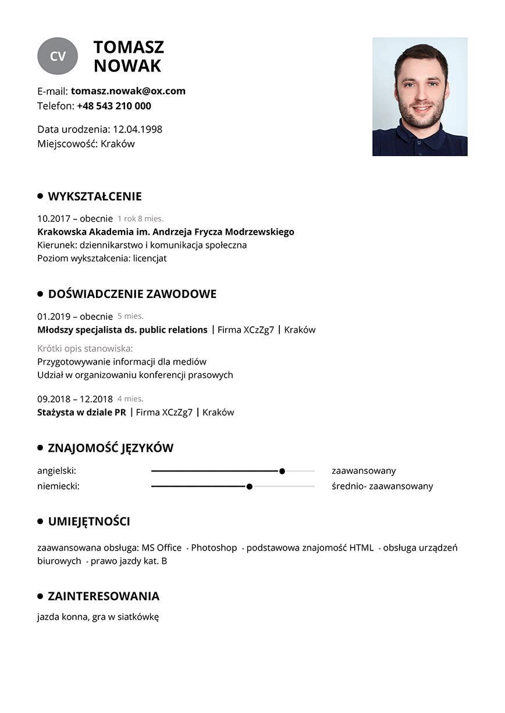 CV student