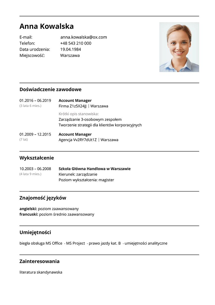 CV account manager
