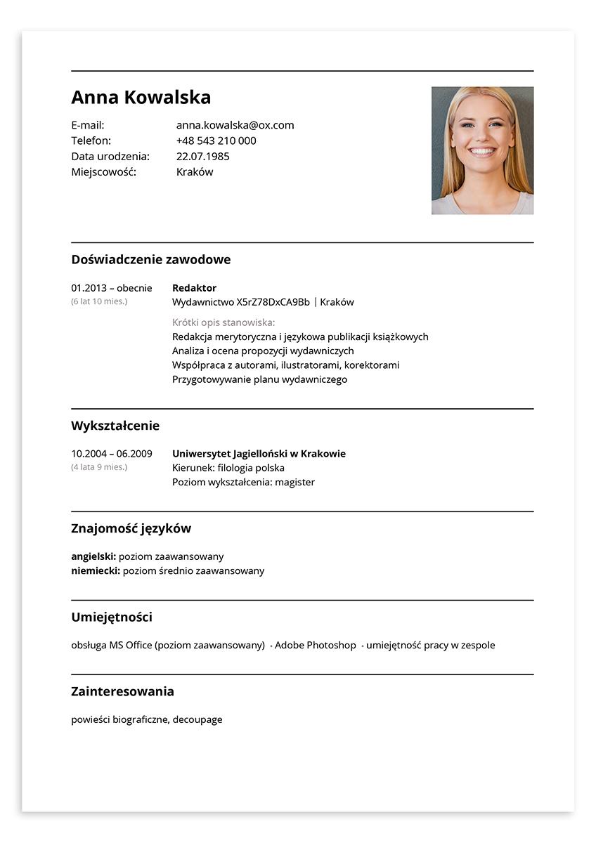 CV redaktor
