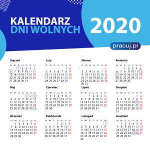 Kalendarz dni wolnych 2020