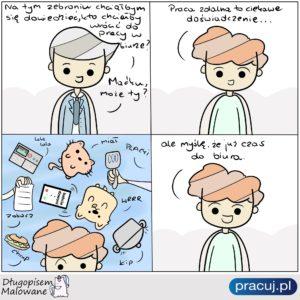 Powrót do biura po koronawirusie - komiks