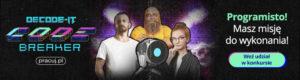 Decode IT 2:0 - banner promujący nową grę Pracuj.pl